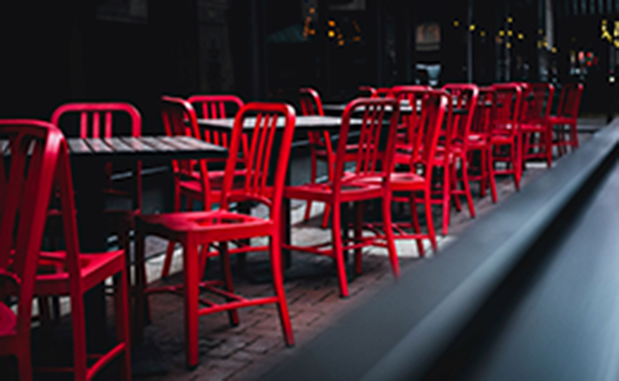 photo of outdoor seating at a restaurant