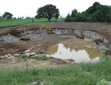 Retention Pond Under Construction