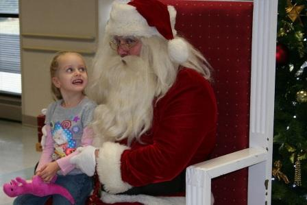 Little girl with santa