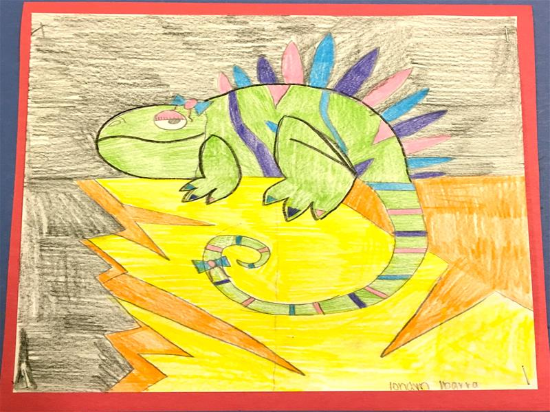 Drawing of iguana