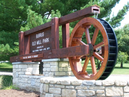 Burris Old Mill Park sign